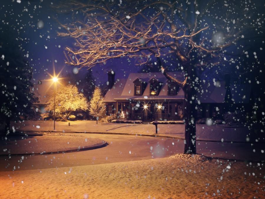 Christmas In My House - Snowy Scene