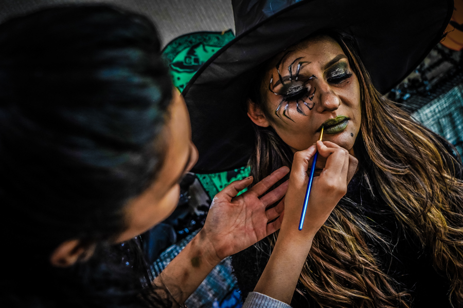 Having My Face Painted As A Witch