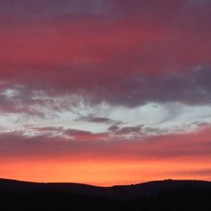 Sonnenuntergang in Terelj