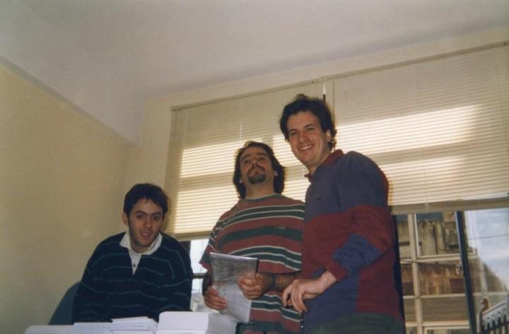Lucio, Leiro y Andrés.