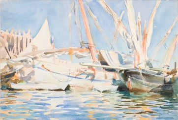 Palma, Majorca. Sargent, John Singer (American, 1856-1925). Watercolour, bodycolour and traces of graphite on Whatman board, height 362 mm, width 526 mm.