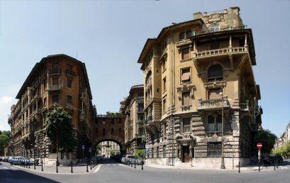 Roma con i bambini quartiere Coppedè