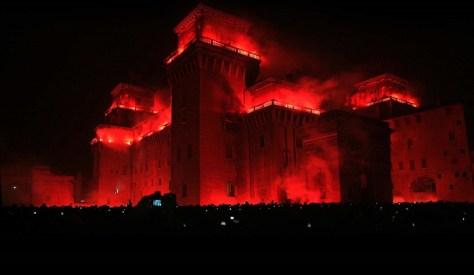 Natale per bambini incendio_castello_estense ferrara