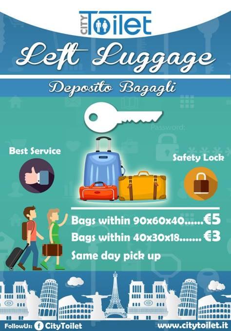 Deposito bagagli City Toilet Roma
