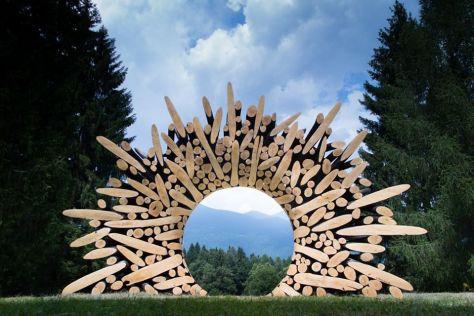 weekend bambini parco artistico trentino arte sella