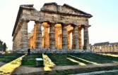cilento-Parco Archeologico di Paestum-tramonto
