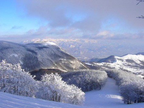 Dove sciare con i bambini in Toscana ed Emilia Romagna Appennino tosco emiliano Comprensorio sciistico Zum Zeri-vista