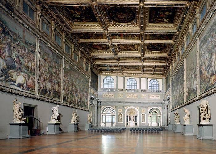 visitare firenze con i bambini_Palazzo Vecchio salone del Cinquecento