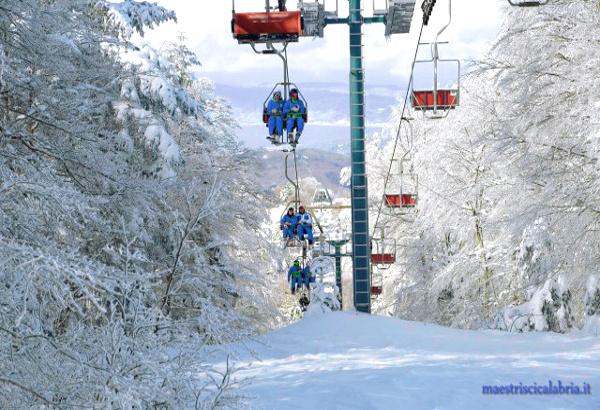 sciare al sud con i bambini gambarie-maestrisci
