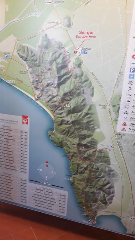 Parco della maremma - cartina parco