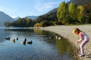 Lago di Ledro-spiaggia di Besta