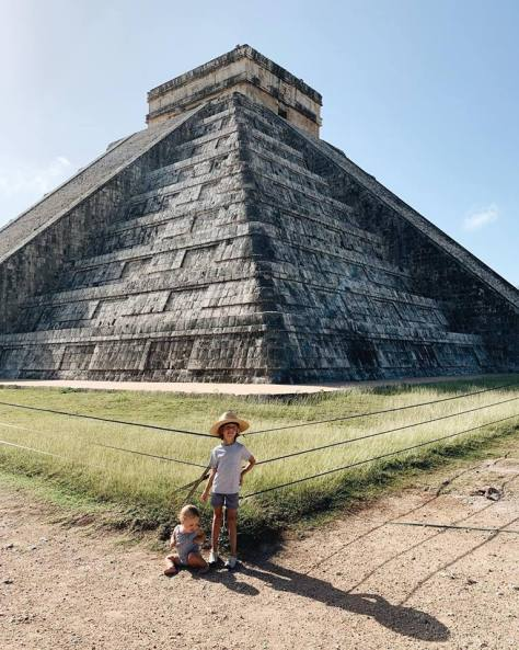 messico con i bambini yucatan piramidi