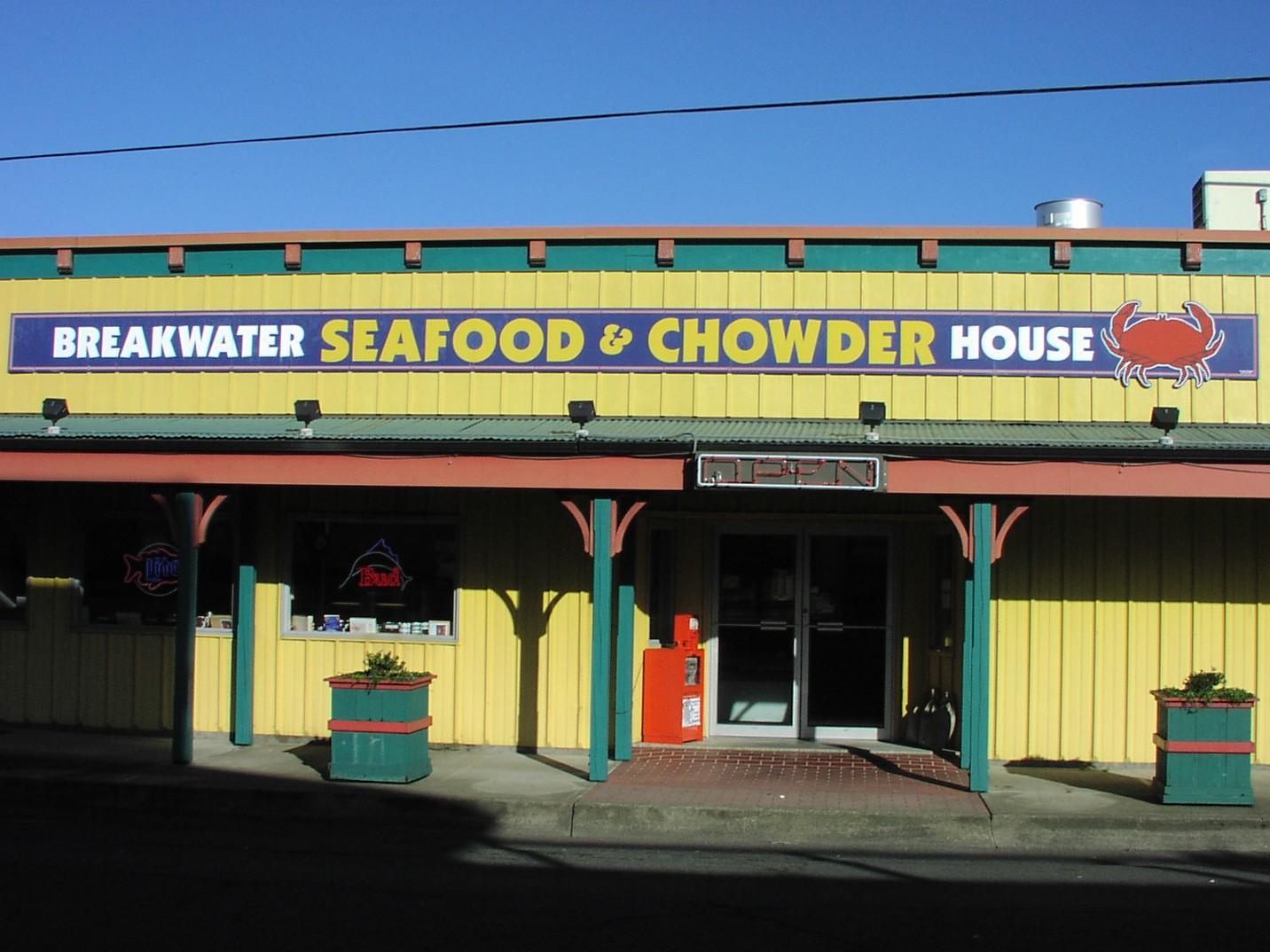 Outside Breakwater's