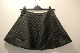Topshop leather skater skirt
