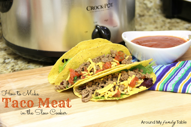 tacos made in a slow cooker