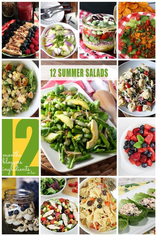 12 summer salads that are all 12 ingredients or less