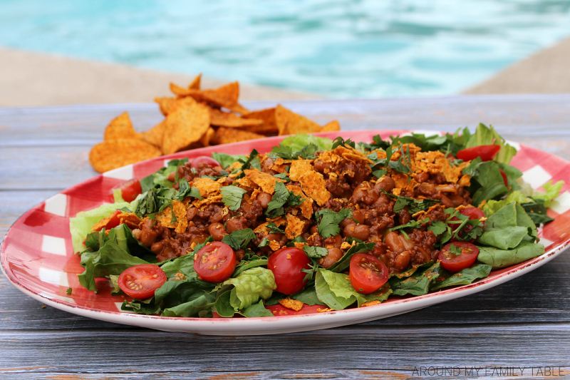 A family favorite, this Tex-Mex Taco Salad recipe has been in my family since I was a little girl. It's the perfect supper on a hot summer night.