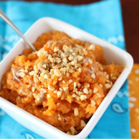 These Mashed Sweet Potatoes with Browned Butter are sweet and nutty plus the browned butter adds a delicious twist to classic mashed sweet potatoes. This is the only way I make mashed sweet potatoes anymore.