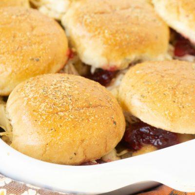 Leftover Cranberry Turkey Sliders