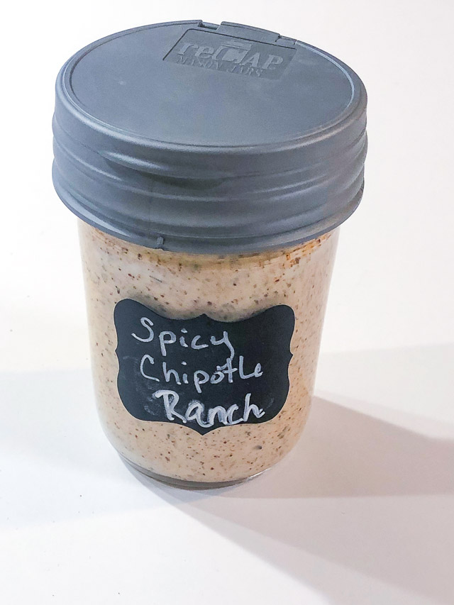 bottle of spicy chipotle ranch