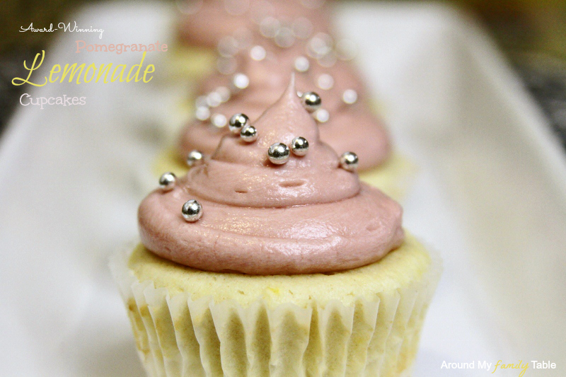 My award winning Pomegranate Lemonade Cupcakes recipe are the perfect spring cupcake!!