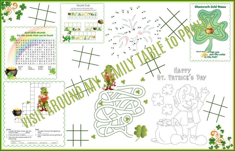 St. Patrick's Day Kids Printable Activity