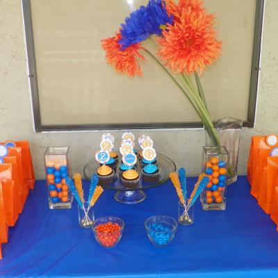 Blue & Orange Birthday Party