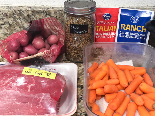 ingredients for pot roast