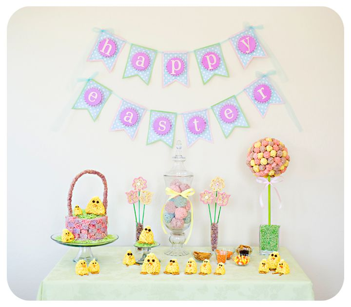 Get in the kitchen with your kids and making lasting memories by creating this beautiful Easter tablescape and fun Easter Rice Krispies Chicks.