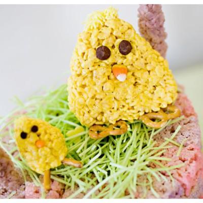 Easter Rice Krispies Chicks