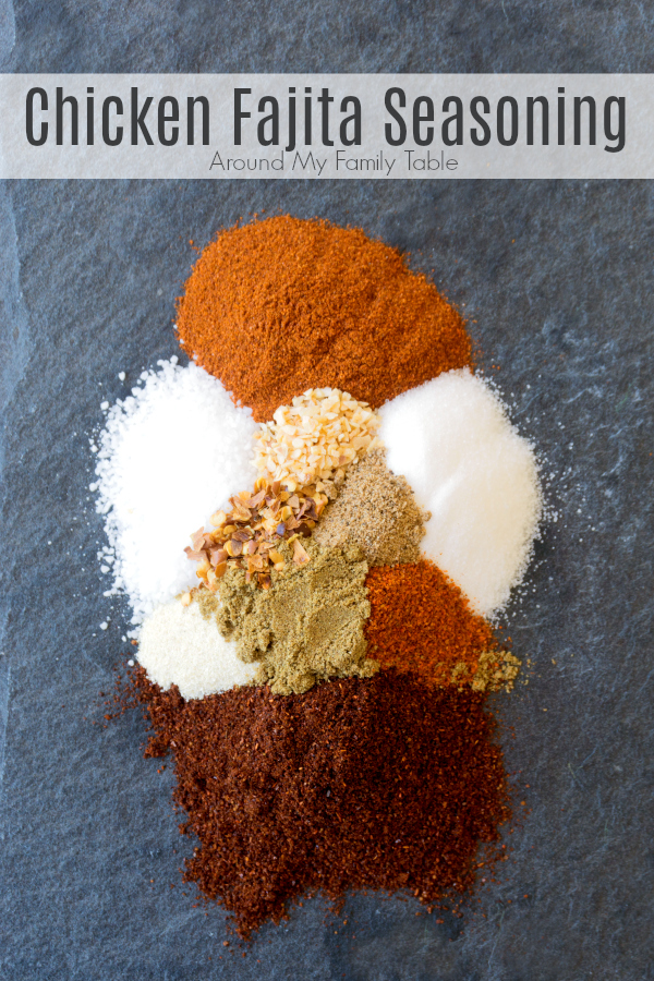 Homemade Chicken Fajita Seasoning is a mixture of spices, that you probably already have in your pantry. It's easy and delicious. Double or triple it for easy weeknight #fajitas for months. via @slingmama