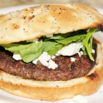 Burgers with Feta & Spinach