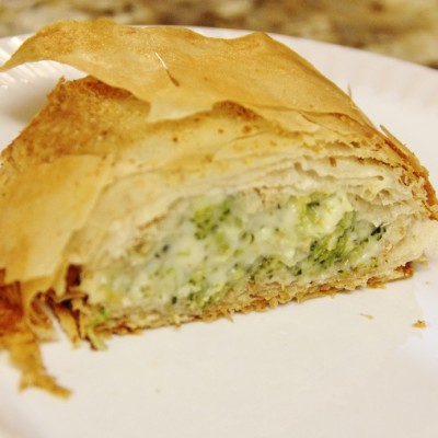 Broccoli Cheese Strudel