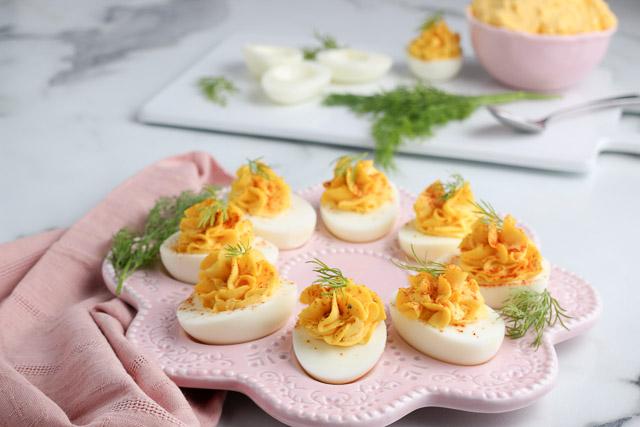 platter of the best deviled eggs