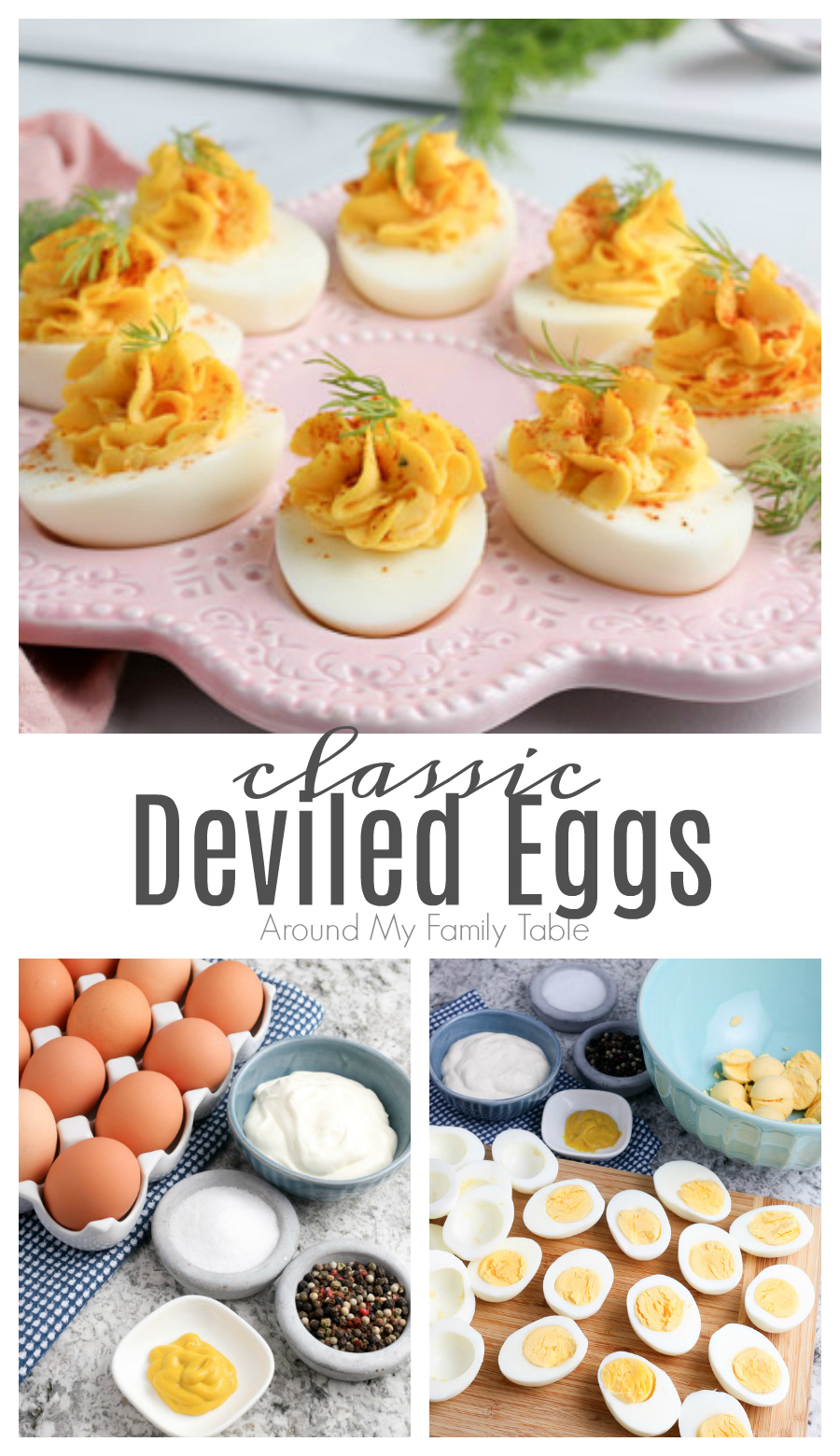 The best deviled eggs recipe is this one, because you make it with just 4 ingredients! The eggs are perfectly cooked, creamy, and taste delicious! via @slingmama