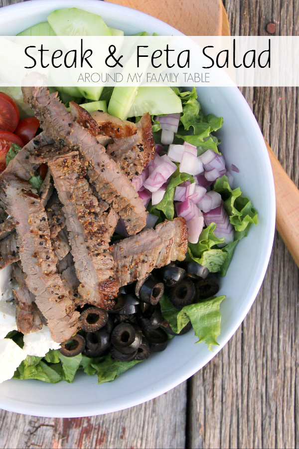 Summer is coming fast so this Steak and Feta Salad is going on my summer menu list!