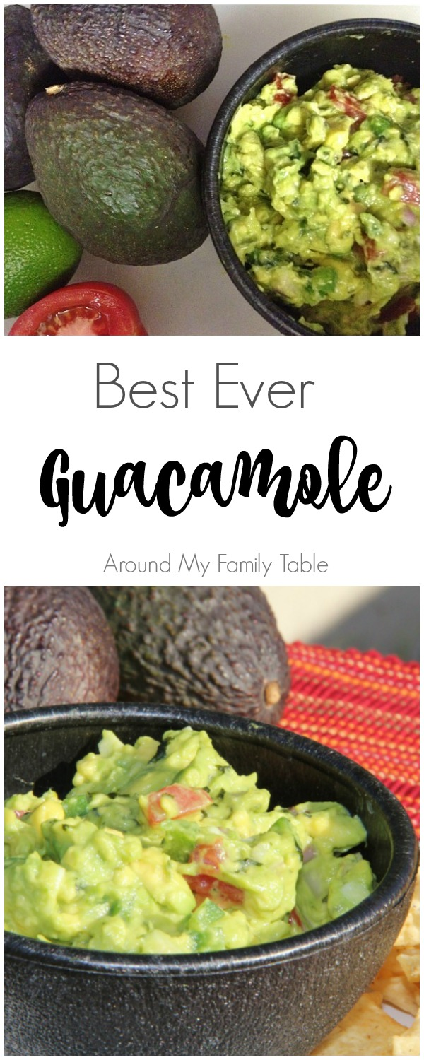 This easy guacamole recipe makes the best guacamole I've ever tasted!