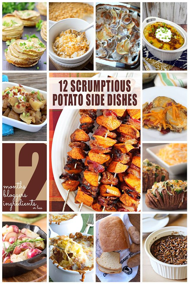 Looking for an easy side dish? Check out these 12 Potato Side Dishes....each has 12 ingredients or less!