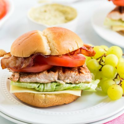 Blackened Salmon BLT Sandwich