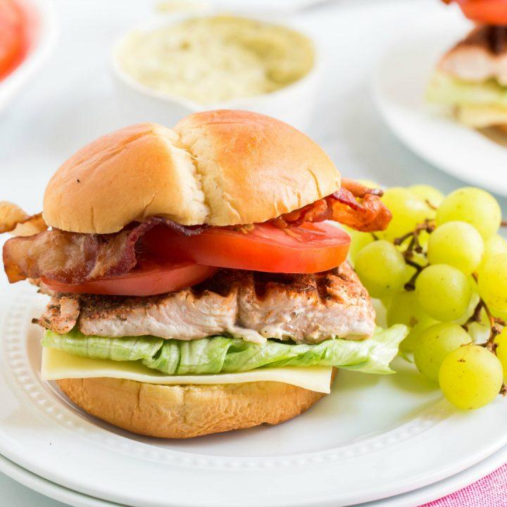 Grilled Blackened Salmon BLT Sandwiches