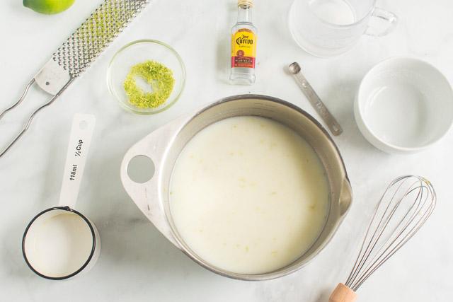 Margarita Lime Sherbet ingredients