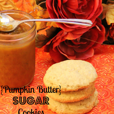 Pumpkin Butter Sugar Cookies