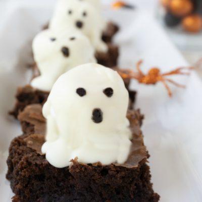 Boo Halloween Brownies