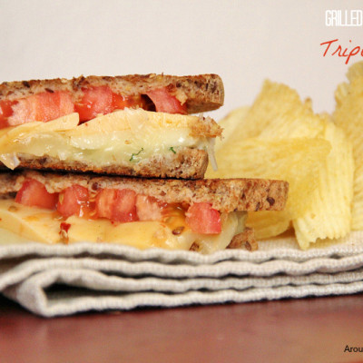 Gourmet Triple Grilled Cheese Sandwiches