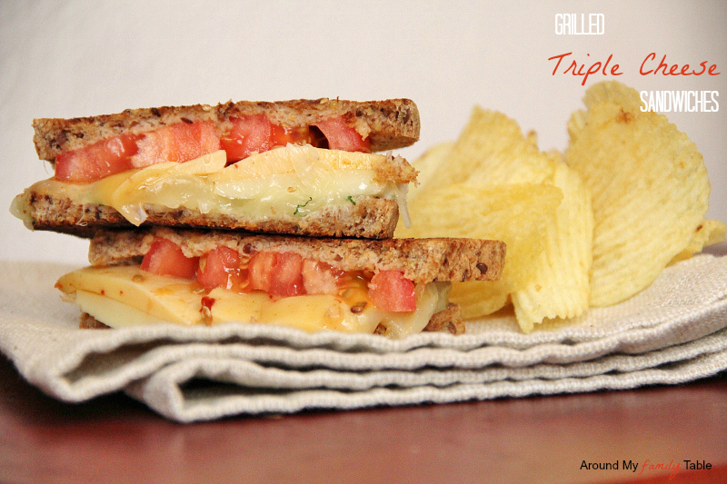 Grilled Triple Cheese Sandwiches