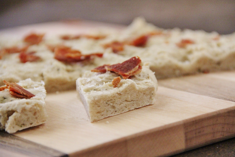 Bacon Herb Focaccia Bread (Gluten free & Dairy Free)