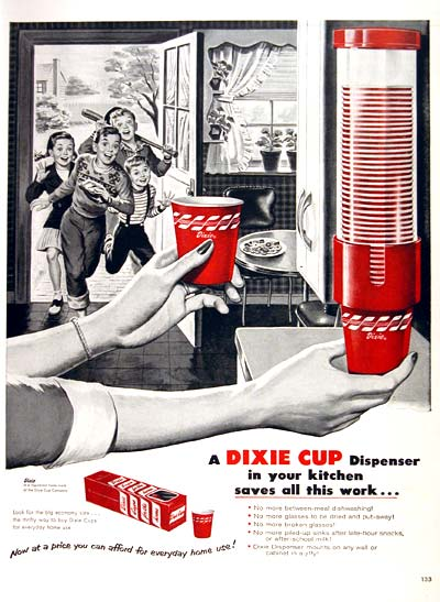 Vintage Dixie Cup Ad
