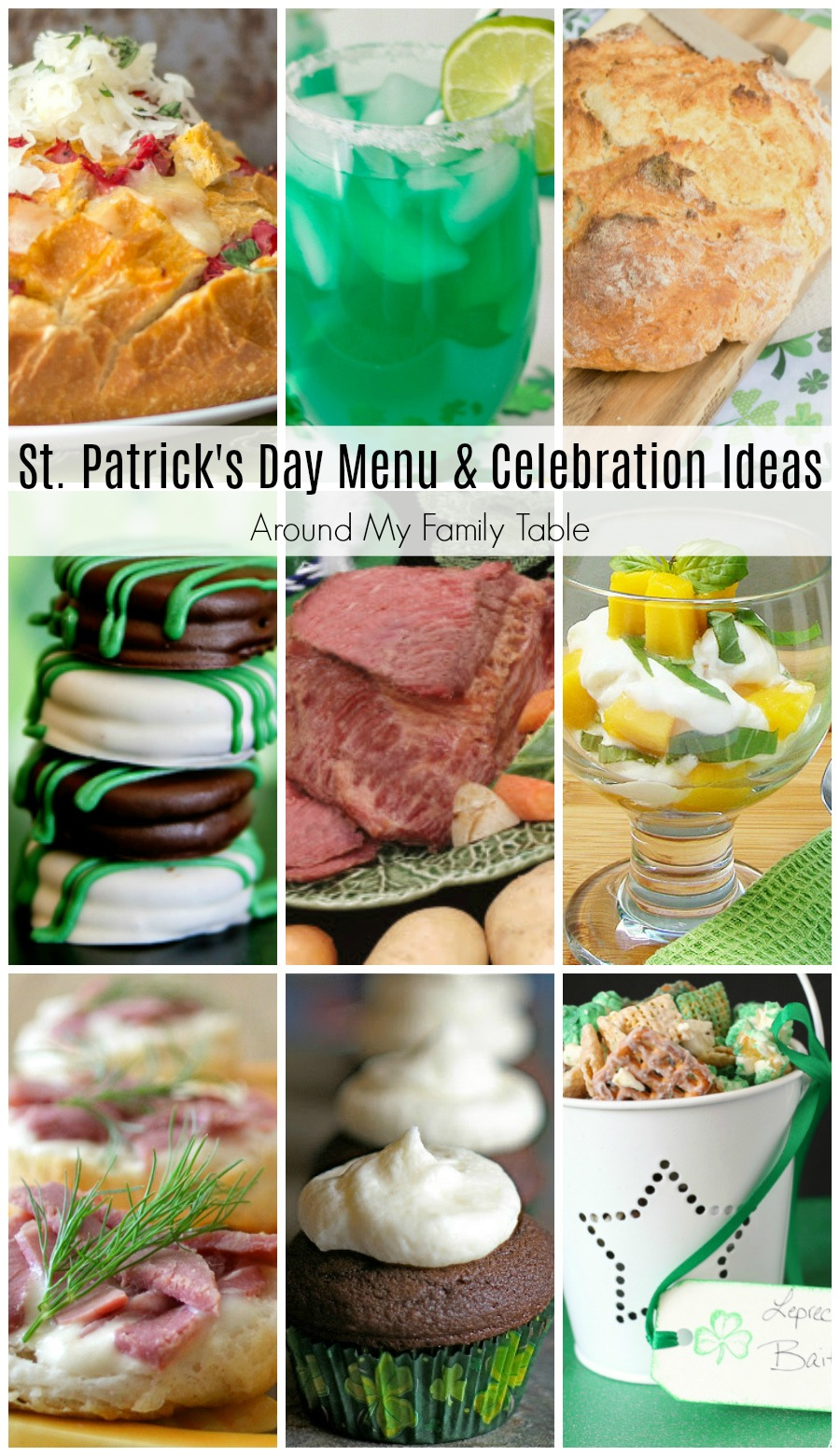 Dig out your green shirts and corned beef because St. Patrick's Day is right around the corner and I've gathered my favorite St. Patrick's Day Menu and Celebration Ideas.