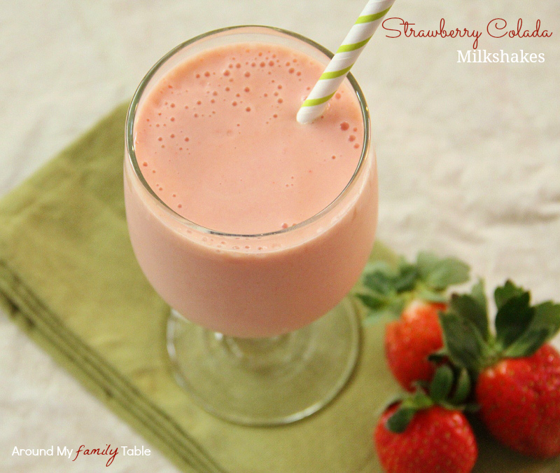 Stawberry Colada Milkshakes