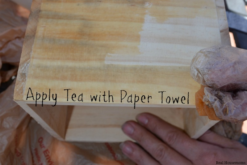 Apply Tea with Paper Towel